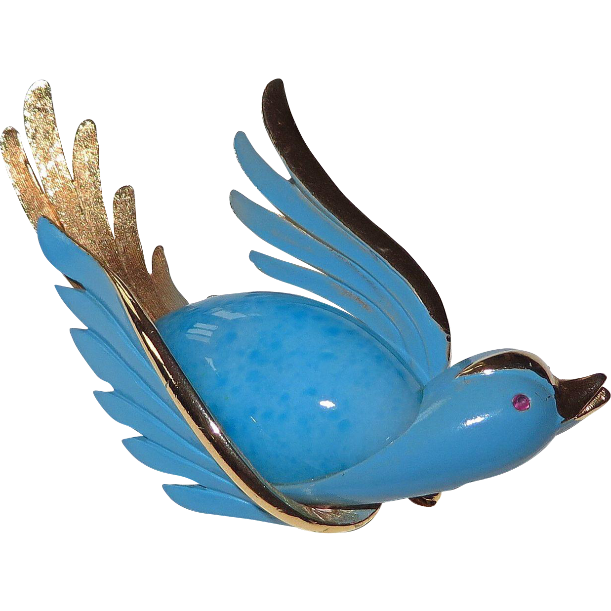 Bluebird of Happiness Brooch