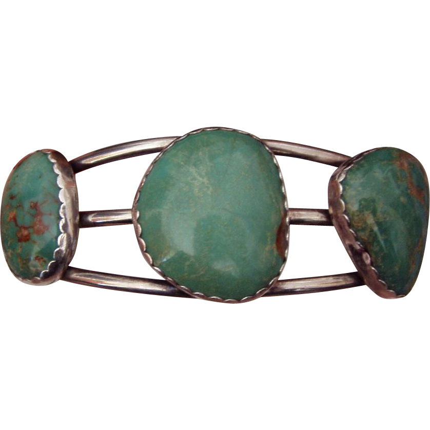 Wonderful American Turquoise Silver Bracelet