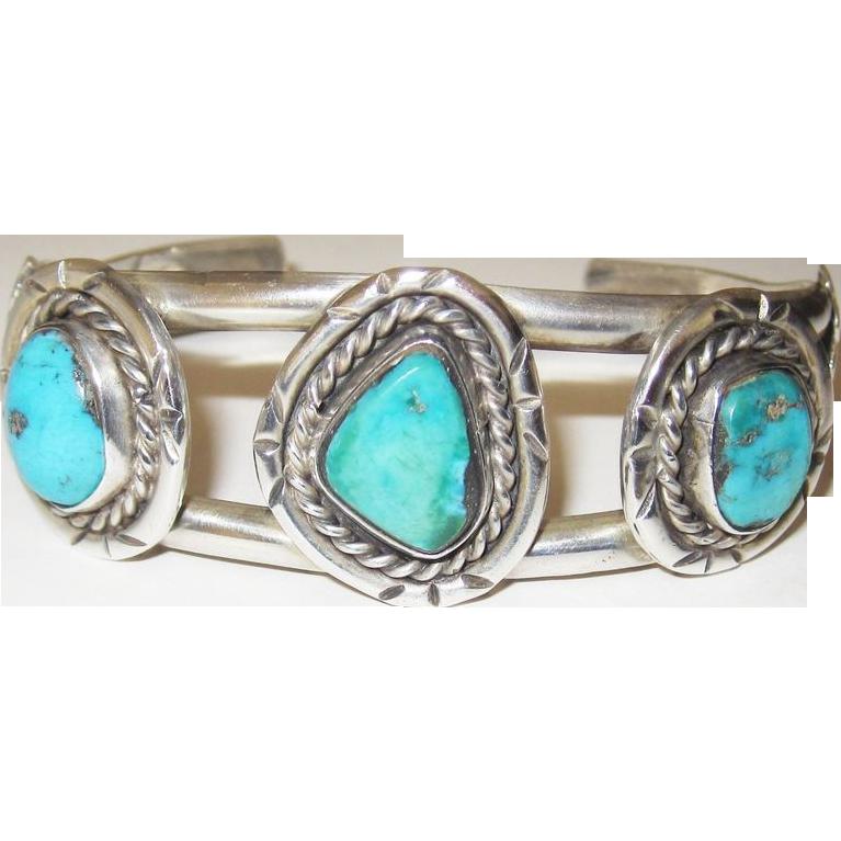 Wonderful Vintage Turquoise Southwest Bracelet