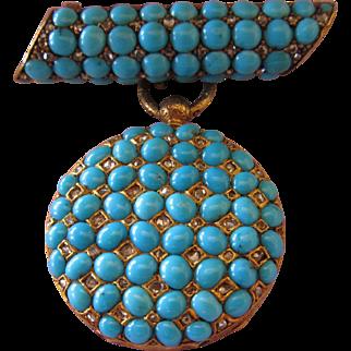 Diamond Turquoise Watch Rossel et Fils, Succrs de J. F. Bautte & Cie, Genève