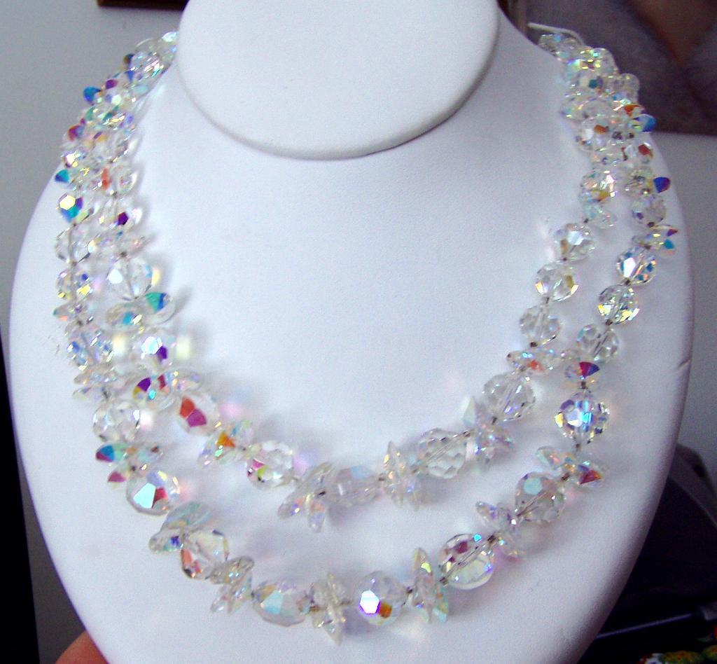 Glorious Rainbow Vendome Crystal Necklace