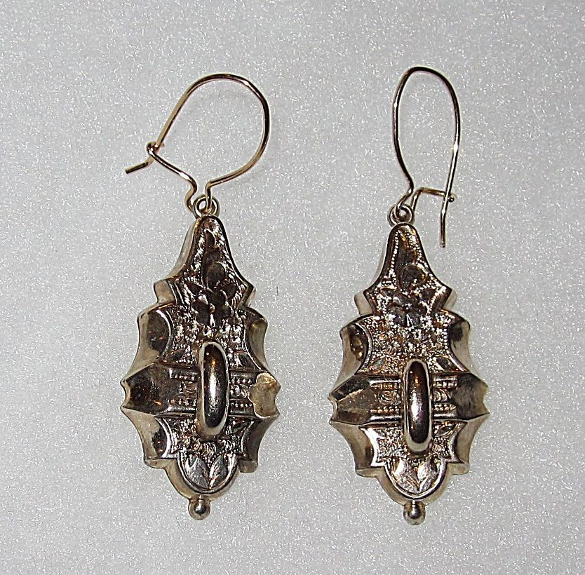 Victorian Earrings Engraved Design