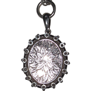 Birmingham Victorian Silver Locket Necklace