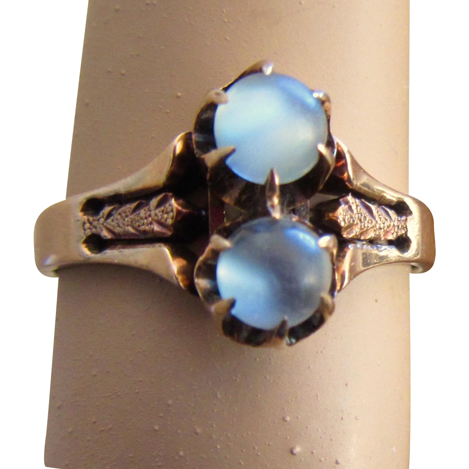 victorian double moonstone ring rose gold from phalan on