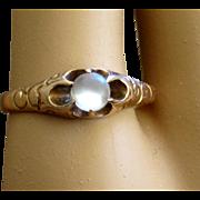 Victorian Moonstone Ring Rose Gold Beautiful