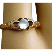 Victorian Moonstone Ring Rose Gold Beautiful