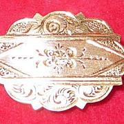 Small Engraved Victorian Pin