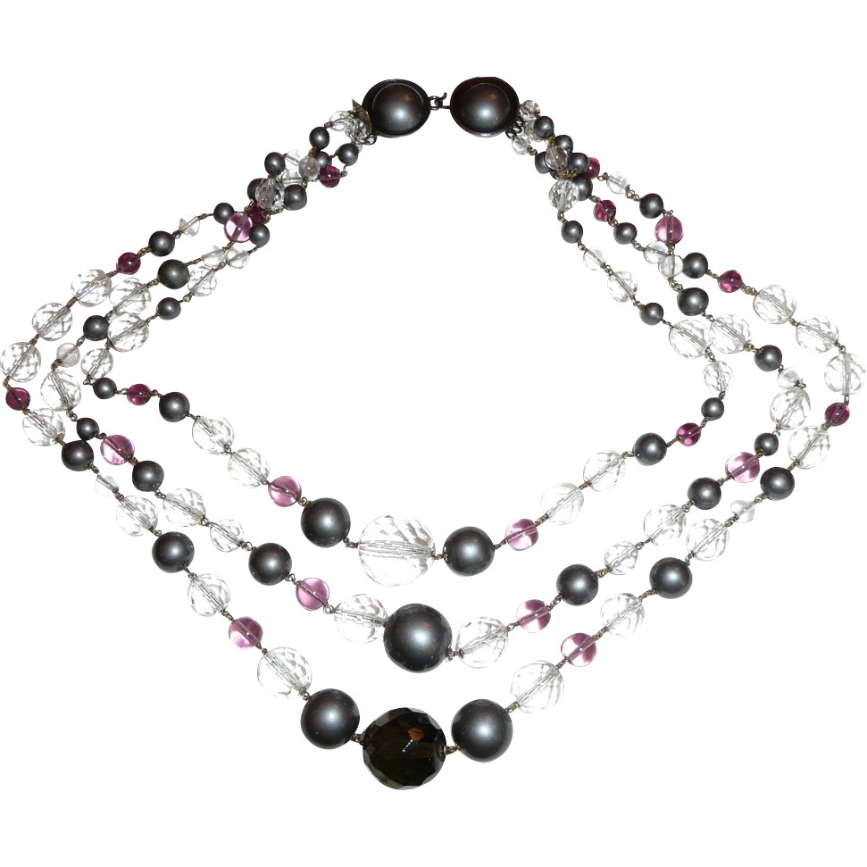 All Glass Beads Wired Together Necklace Gorgeous