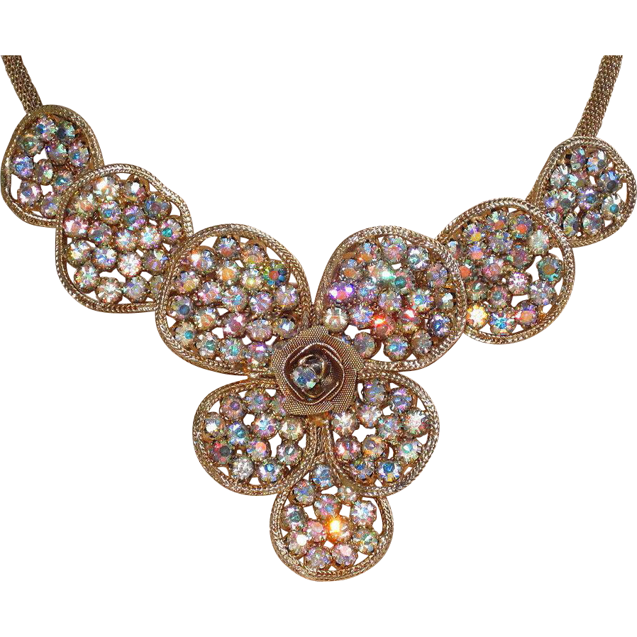 Awesome Vintage Brooch and Matching Necklace Set