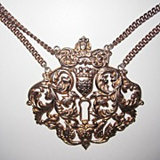 Rare Massive Nettie Rosenstein Sterling Pendant Necklace
