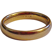 Vintage 14K Gold Benchmark Wedding Band Ring Size 7 1/2