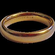 Vintage 14K Gold Benchmark Wedding Band Ring Size 7 1/2