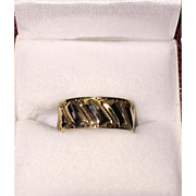 Victorian Wedding Band Wide Size 6