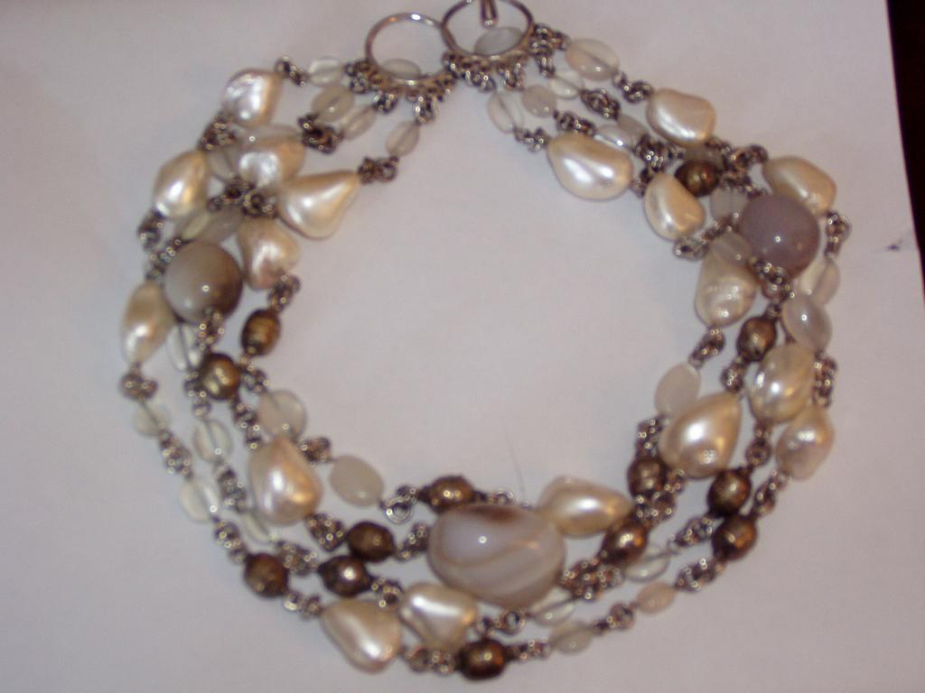 Chunky Wild Agate Beads Necklace