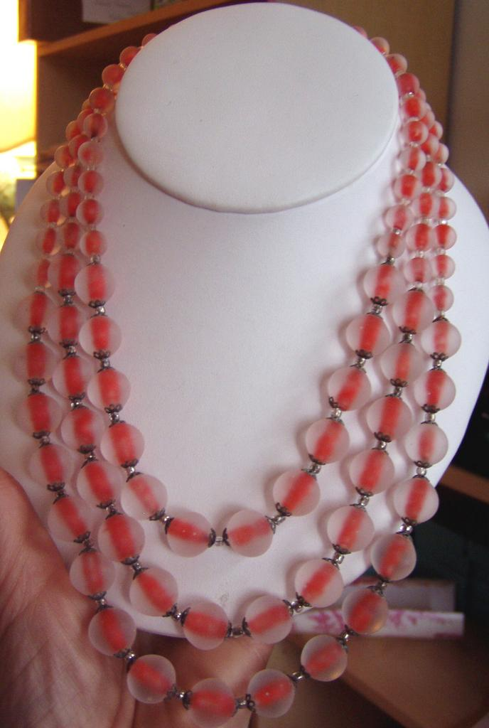 Wild Orange Frosted Glass Beads