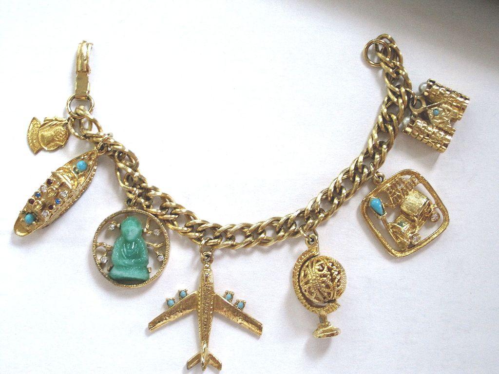 the world travel vintage charm bracelet from phalan