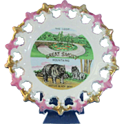 1960's Great Smoky Mountains Souvenir Plate