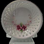 Miniature Porcelain Bowl Shaped White Basket