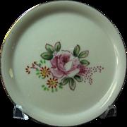 Pink Rose Design Multi Purpose Small Plate