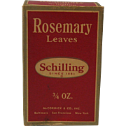 1950's Schilling Rosemary Leaves Box with Contents