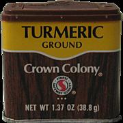 1980's Crown Colony Ground Turmeric Tin