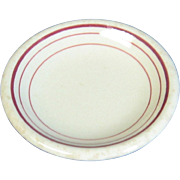Restaurant Ware Butter Pat, Tan and Burgundy