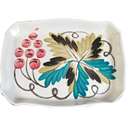 Harvest Ware Hand Painted Rectangle Copper Luster Small Tray