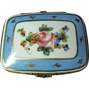 French Limoges Dresser Box with Hinged Lid