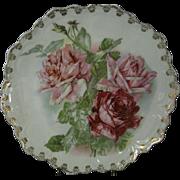Zeh Scherzer & Co. Antique Porcelain Decorative Cabinet Plate