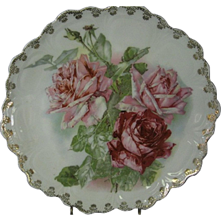Zeh Scherzer & Co. Antique Porcelain Decorative Cabinet Plate
