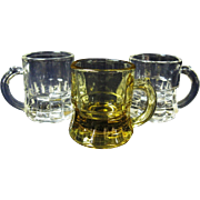 Three Miniature Glass Mugs Instant Collection