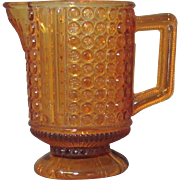 1880's Daisy and Button EAPG Amber Glass Pitcher
