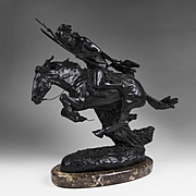 "Bronze Sculpture of ""The Cheyenne"" After Frederic Remington"