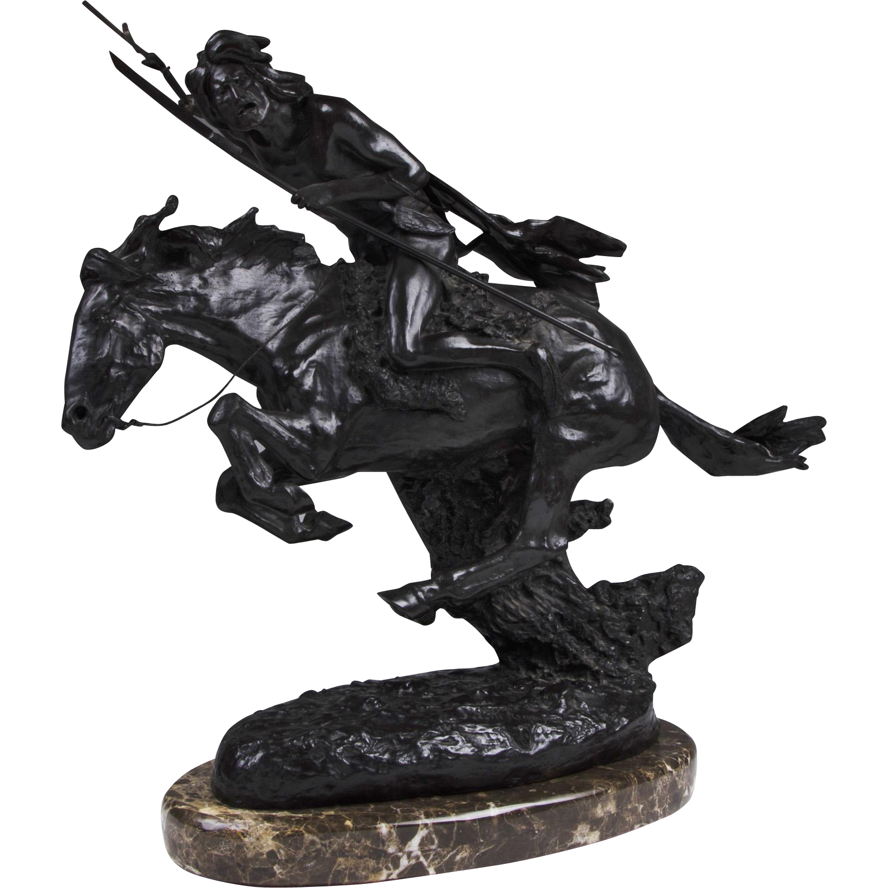 """Bronze Sculpture of """"The Cheyenne"""" After Frederic Remington"""