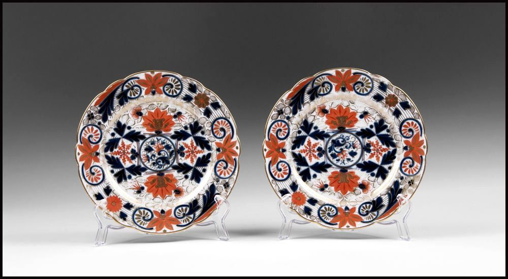 Pair of late 19th C. Fischer & Mieg Pirkenhammer Imari Pattern Plates