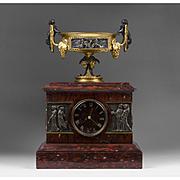 1860 French Mantel Clock by Dewint, Hger à Paris
