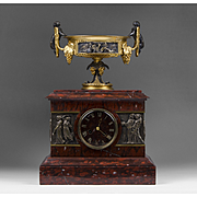 1860 French Mantel Clock by Dewint, Hger à Paris