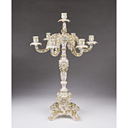 Large 19th C. Dresden Candelabra