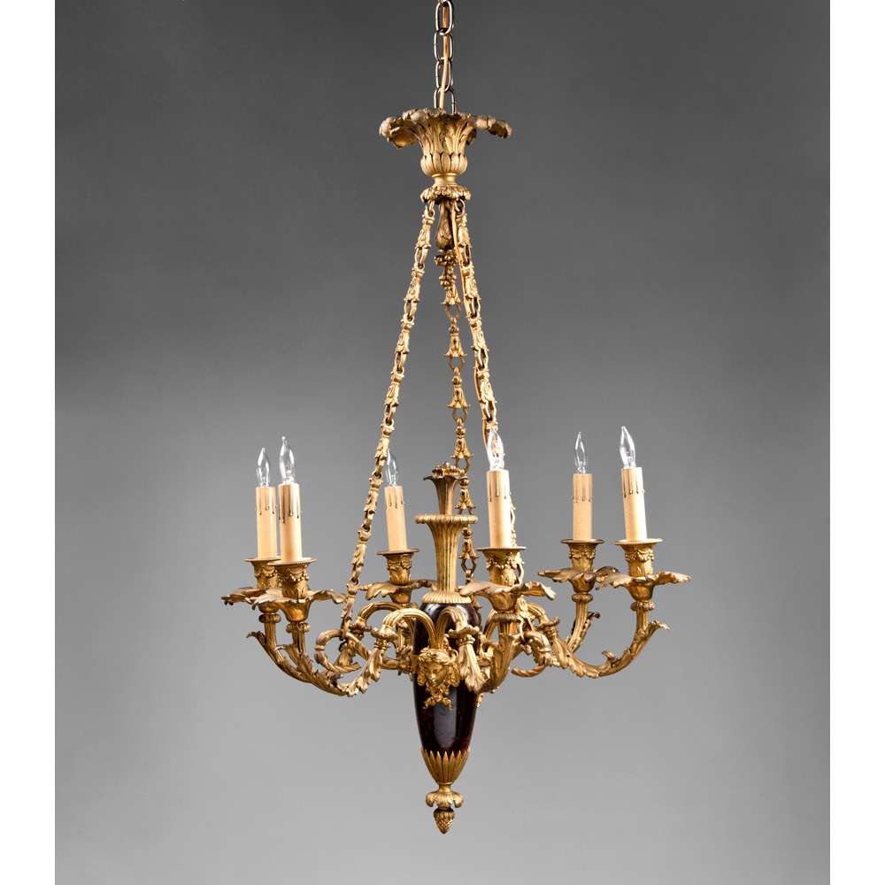 French Chandelier Elegant Lantern Gold With French