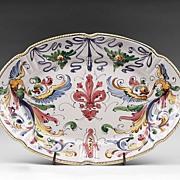 Raffaellesco Style Fratelli Fanciullacci Oval Platter
