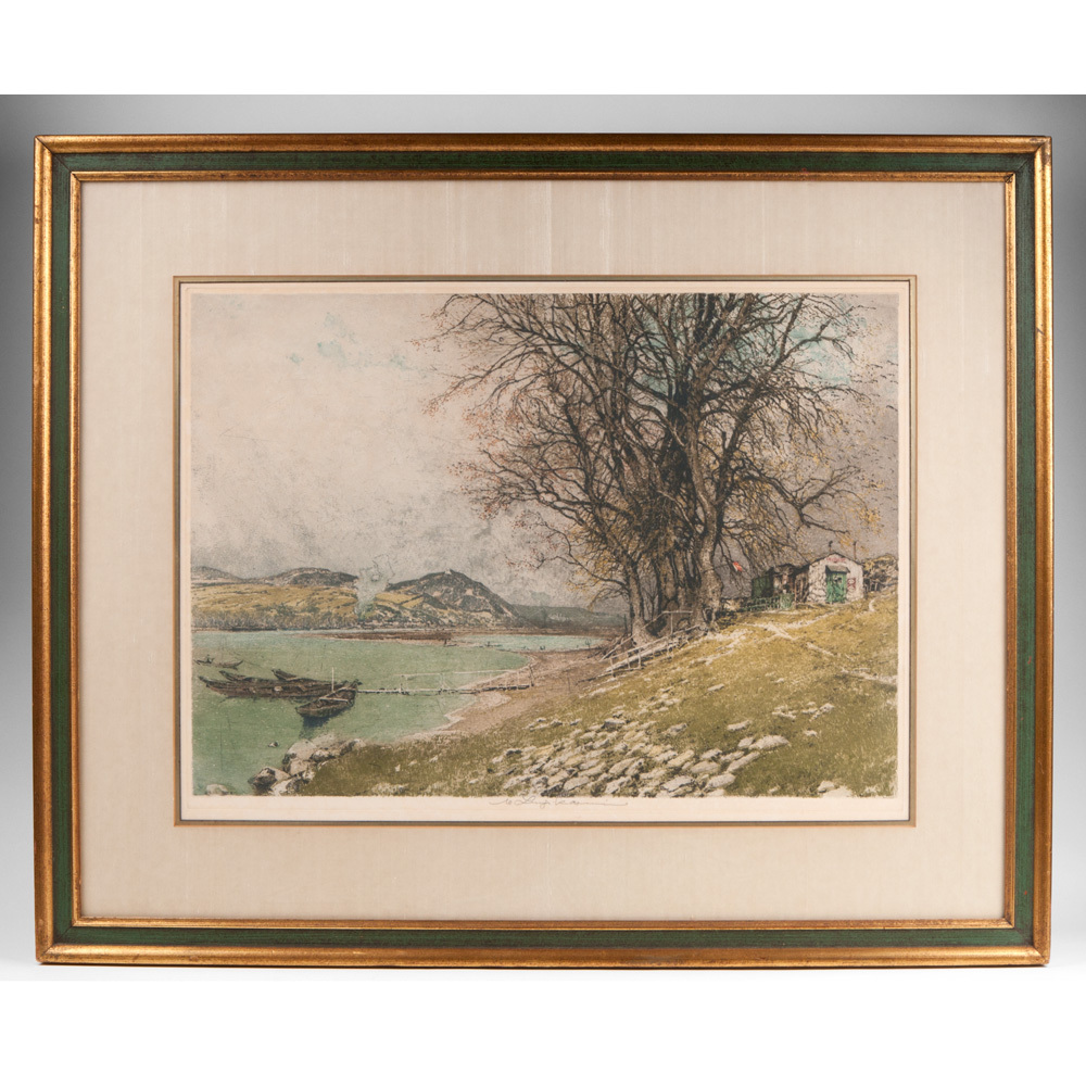 Color Etching by Luigi Kasimir; Estate Signed