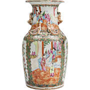 19th C. Rose Medallion Canton Vase