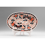19th Century Oval Fluted Japanese Bowl