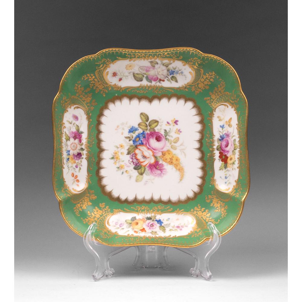 1815- 1817 English Nantgarw Porcelain Square Serving Dish