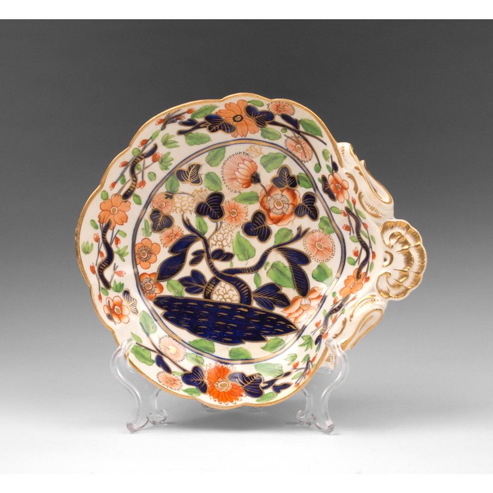 1800-25 Coalport Imari Palette Side Dish