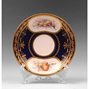 Early  19th C.  Soft Paste Hand Painted Saucer