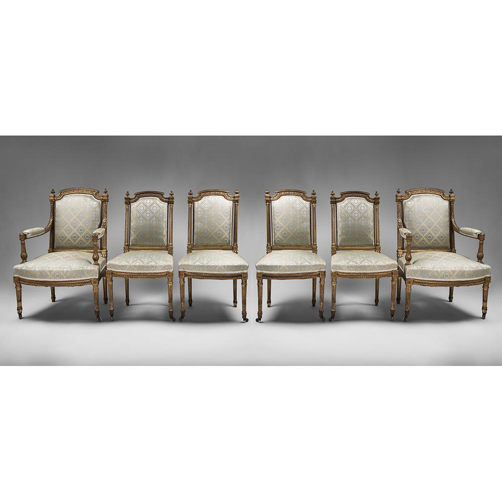 Suite Of Six 18th Century Louis XVI Chairs