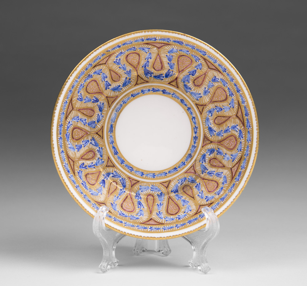 Early 19th C. Worcester Saucer After Sevres Style