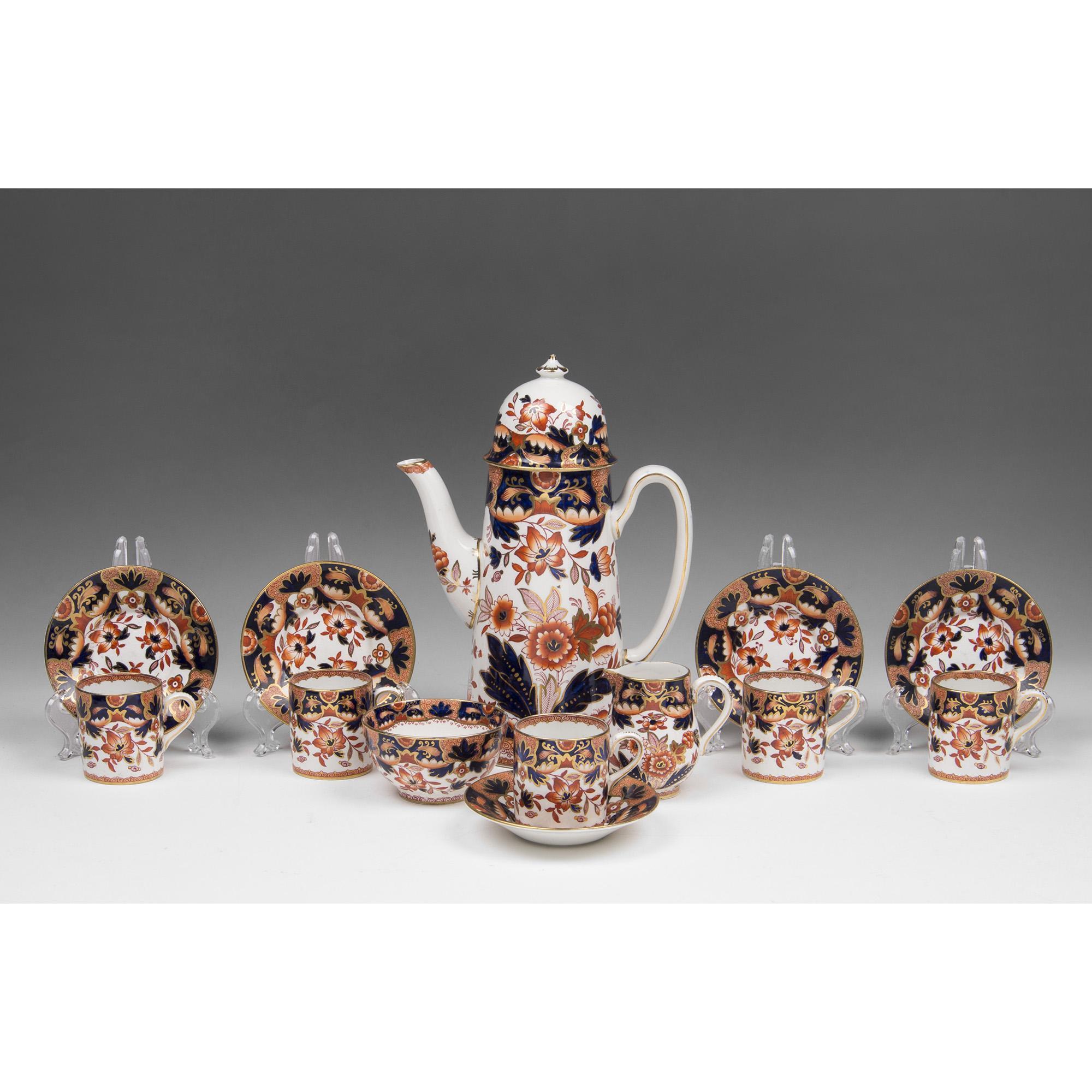 "Booth's China Tea Set, ""Rajah"" Pattern, 13 Pcs."