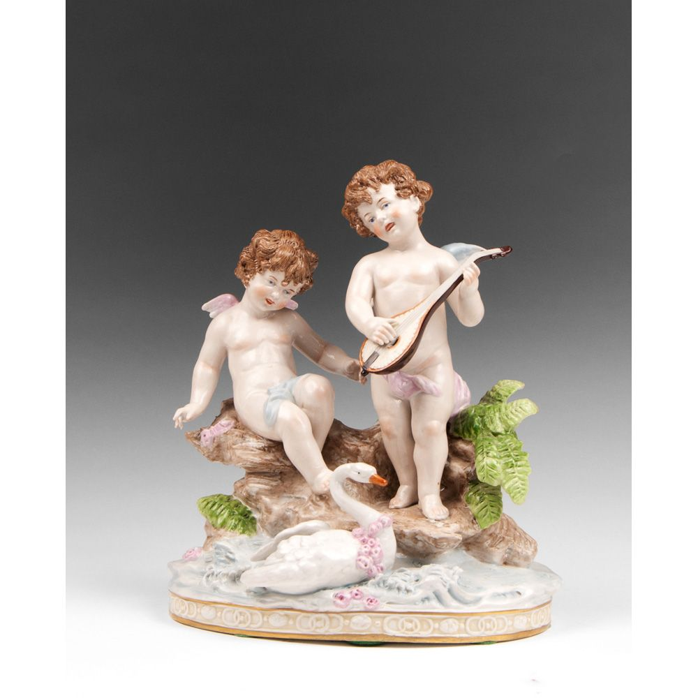 A. W. Fr. Kister Porcelain Grouping, Circa Early 20th C.